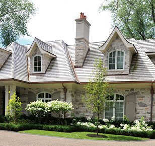 beautiful cottage home with unique windows
